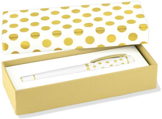 Gold Dots Roller Ball Pen With Gift Box