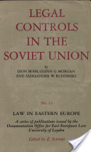 Legal Controls in the Soviet Union