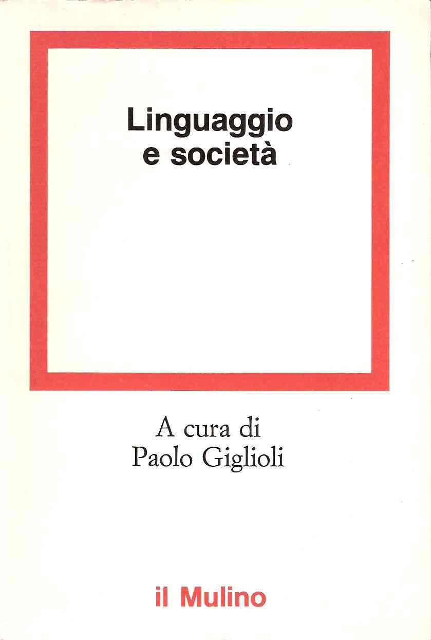 Linguaggio e società