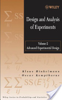 Design and Analysis of Experiments, Advanced Experimental Design