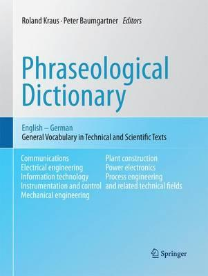 Phraseological Dictionary English-german