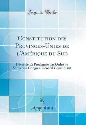 Constitution des Provinces-Unies de l'Amérique du Sud