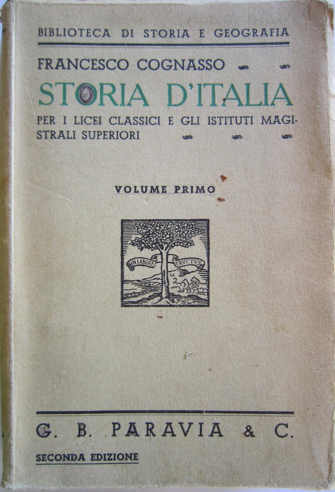 Storia d'Italia - Volume primo
