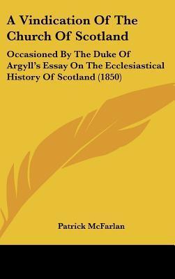 A Vindication of the Church of Scotland
