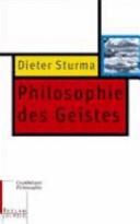 Philosophie des Geistes
