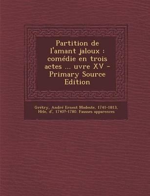 Partition de L'Amant Jaloux