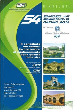 54 Simposio AFI , Rimini , 11-12-13 giugno 2014
