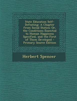 State Education Self-Defeating