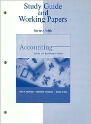 Study Guide/Working Papers for use with Accounting