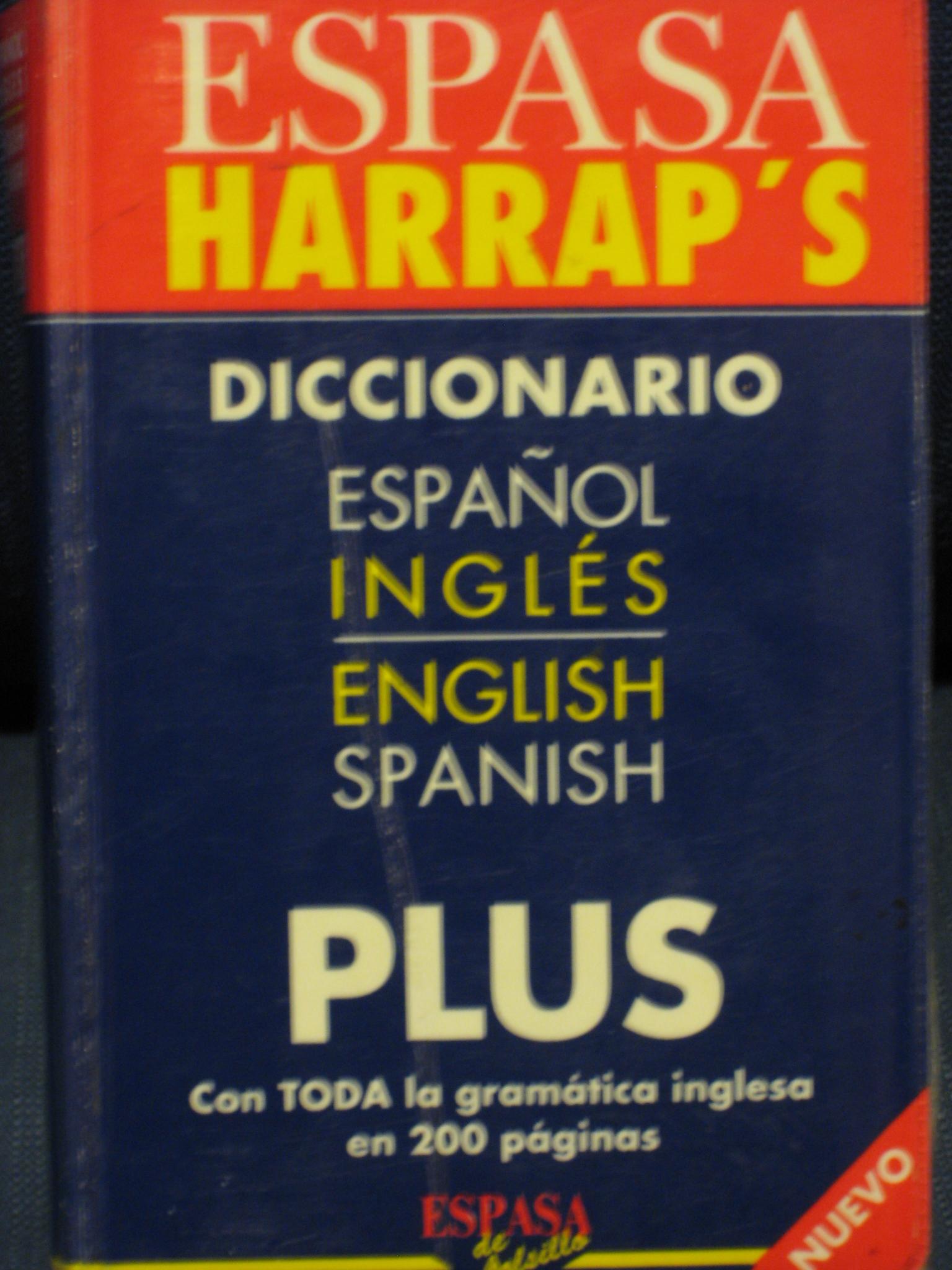 Espasa Harrap's Diccionario Plus español-inglés/english-spanish