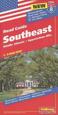 Hallwag USA Southeast Road Guide
