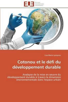 Cotonou et le Defi du Developpement Durable