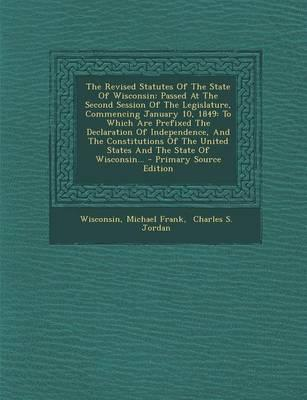 The Revised Statutes of the State of Wisconsin