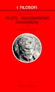 Introduzione a Talete, Anassimandro, Anassimene