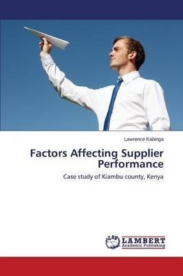 Factors Affecting Supplier Performance