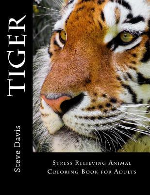 Tiger Adult Coloring Book