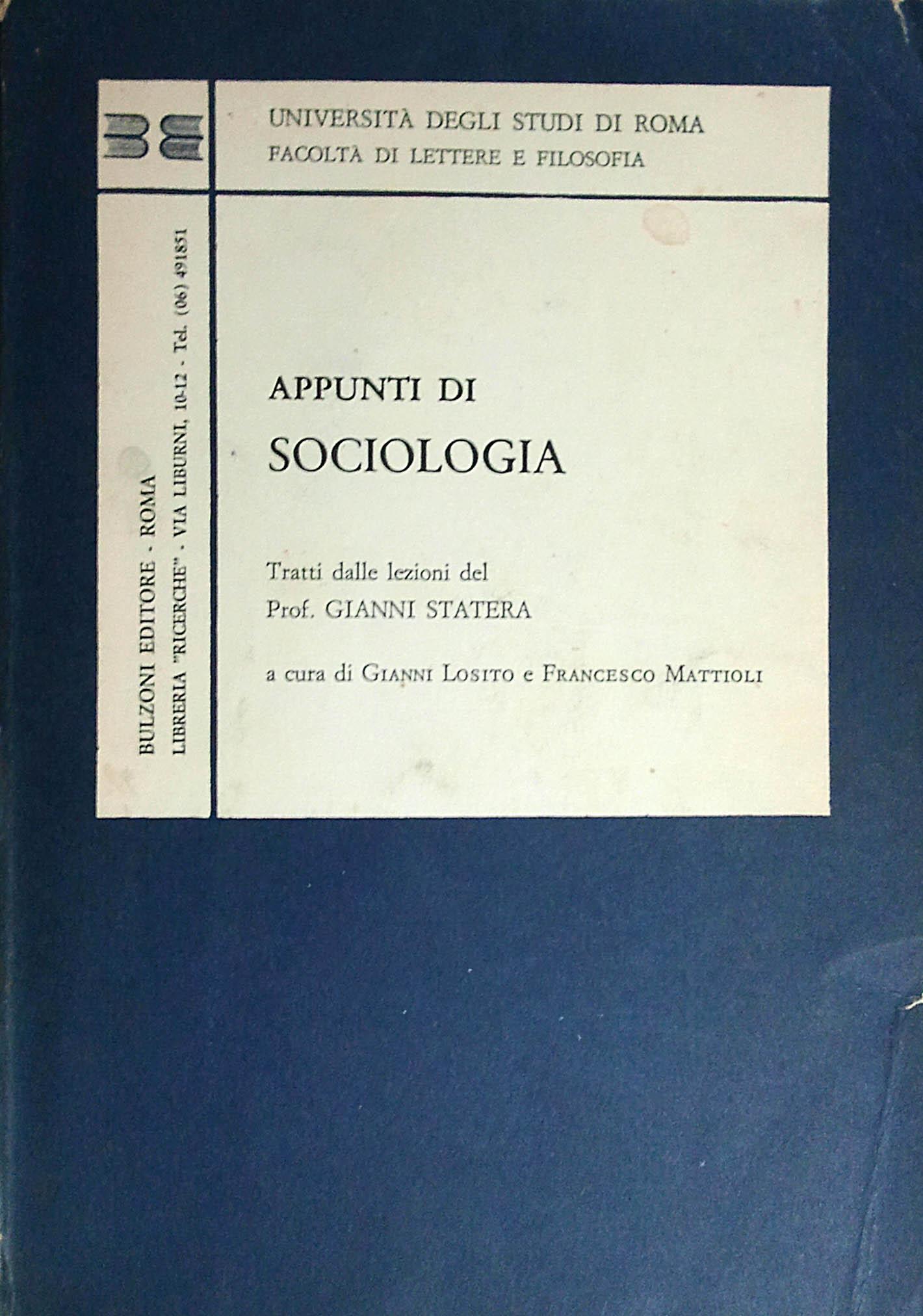 Appunti di sociologia