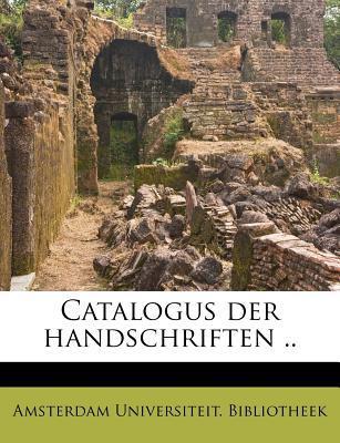 Catalogus Der Handsc...