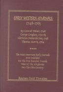 Early western journals, 1748-1765