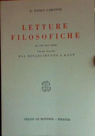 Letture filosofiche Vol. II