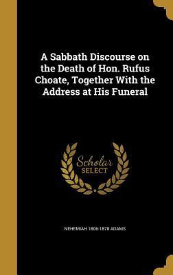 SABBATH DISCOURSE ON THE DEATH