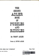 2nd Adler Book of Puzzles and Riddles