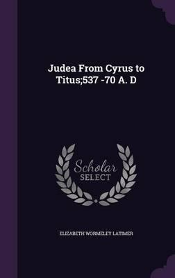 Judea from Cyrus to ...