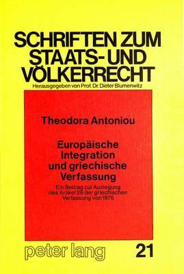 Europäische Integration und griechische Verfassung