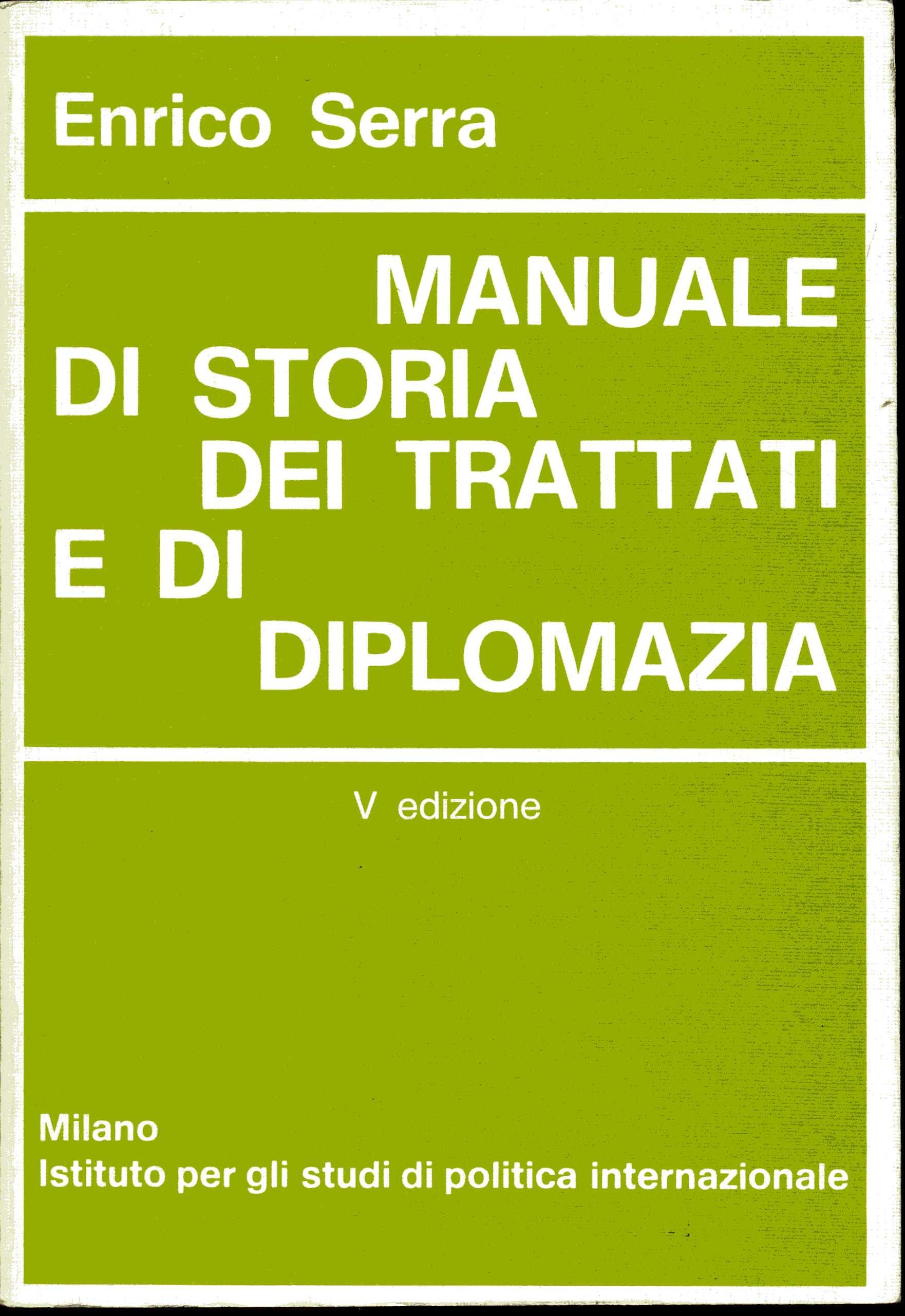 Manuale di storia dei trattati e di diplomazia