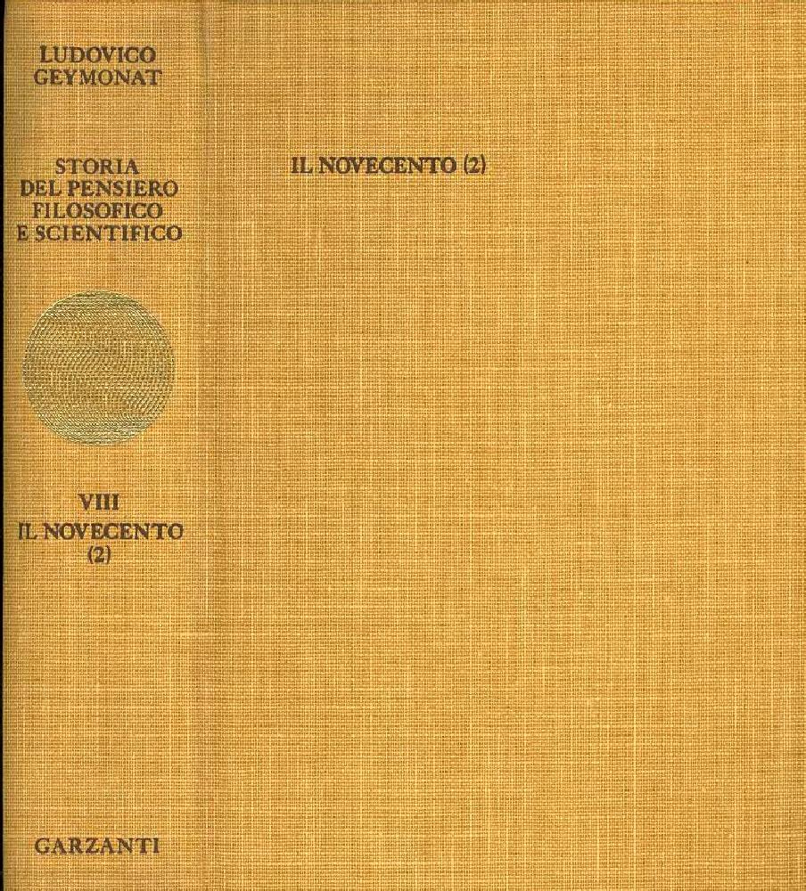Storia del pensiero filosofico e scientifico - Vol. 8