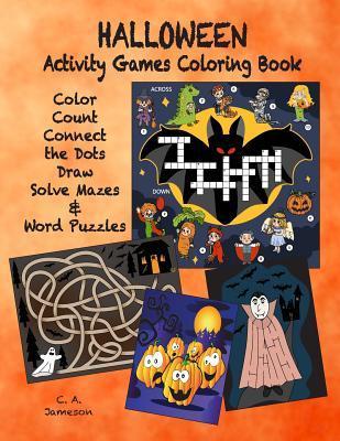 Halloween Activity Games Coloring Book