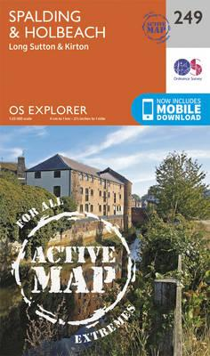 OS Explorer Map Active (249) Spalding and Holbeach