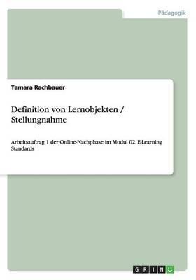 Definition von Lernobjekten / Stellungnahme