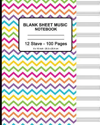 Blank Sheet Music Notebook - Colorful Waves