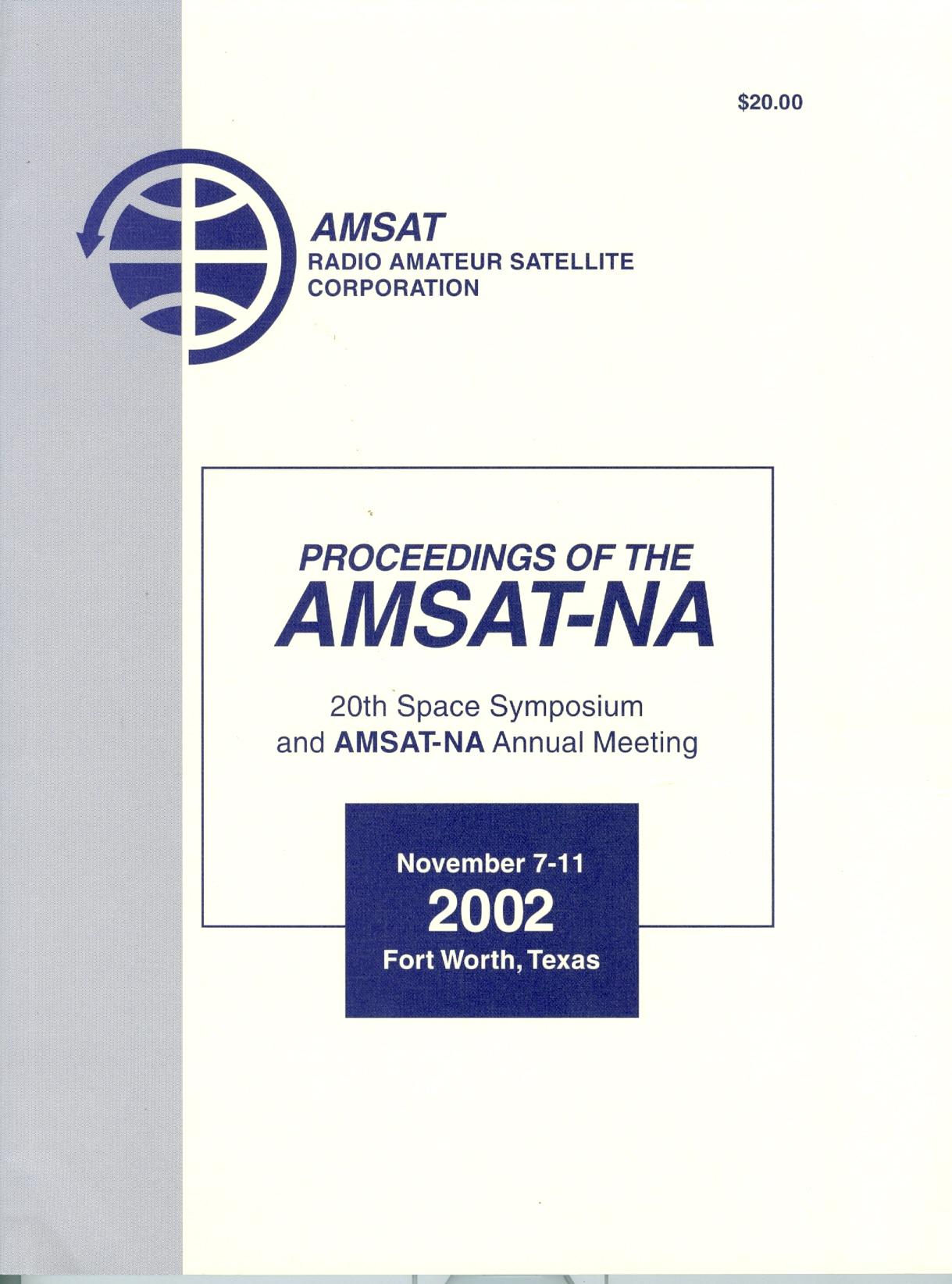 Amsat 20th Space Symposium 2002