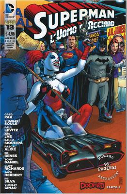 Superman l'Uomo d'Acciaio n. 13 - Variant Harley Quinn