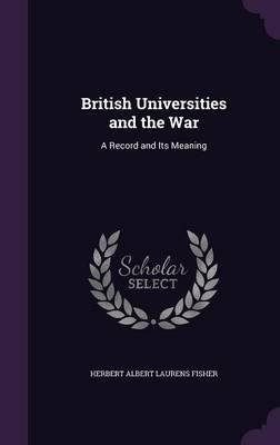 British Universities and the War