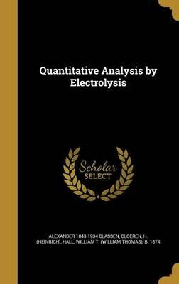 QUANTITATIVE ANALYSIS BY ELECT