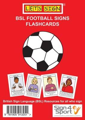Let's Sign BSL Football Signs Flashcards