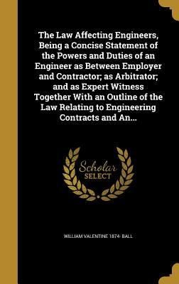 LAW AFFECTING ENGINEERS BEING