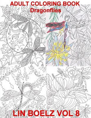 Adult Coloring Book Dragonflies