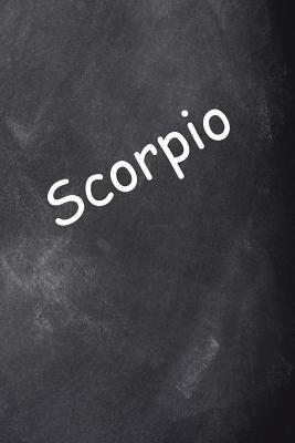 Scorpio Zodiac Horoscope Chalkboard Design Journal