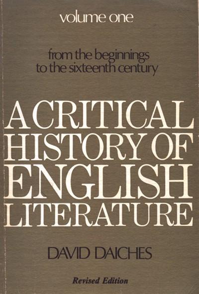A Critical History of English Literature, Volume 1