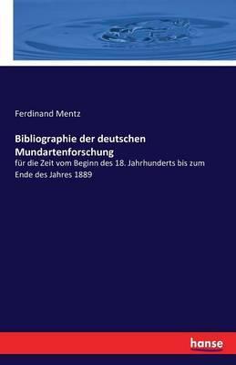 Bibliographie der deutschen Mundartenforschung