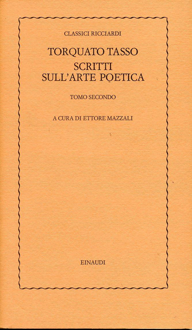 Scritti sull'arte poetica - II