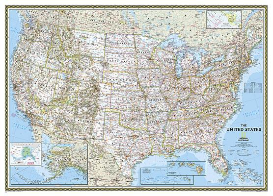 United States Classic Wall Map
