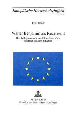 Walter Benjamin als Rezensent