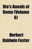 Dio's Annals of Rome