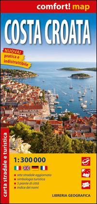 Carta stradale della Costa Croata - Comfort Map 1