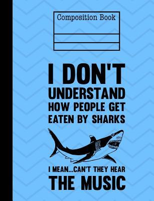 Shark Composition Notebook - Blank Unlined Sketch Paper